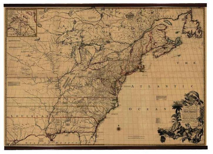 Karte - Nord Amerika 1755