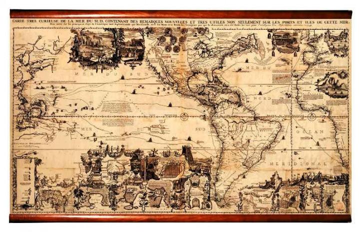 Karte - America 1719