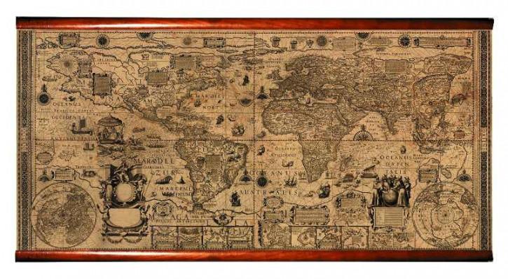 Karte - Plancius Planisphere 1604
