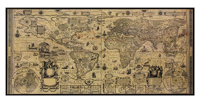 Karte Antique World Wall Map, Kunstdruck