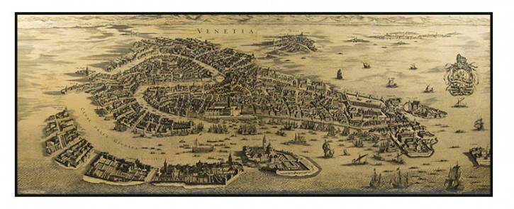 Karte Wall Map Venice 1694, Kunstdruck