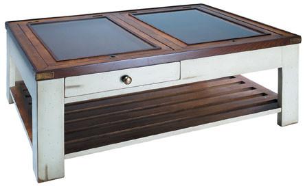 Tisch Couchtisch Sofatisch Wohnzimmertisch  - Gallery Table, Elfenbein