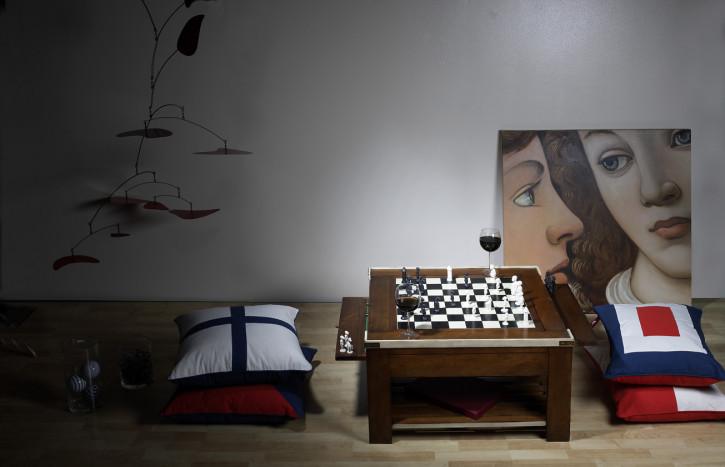 Spieltisch Wohnzimmertisch kleiner Beistelltisch, Elfenbein