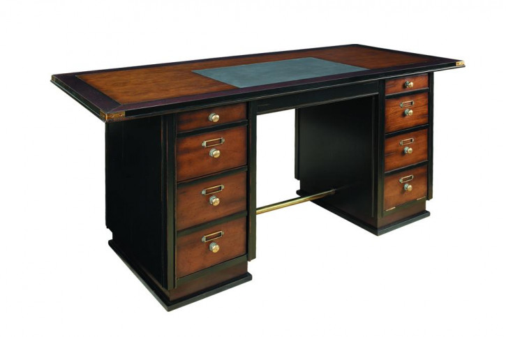 Schreibtisch - Captains Desk (Schwarz)