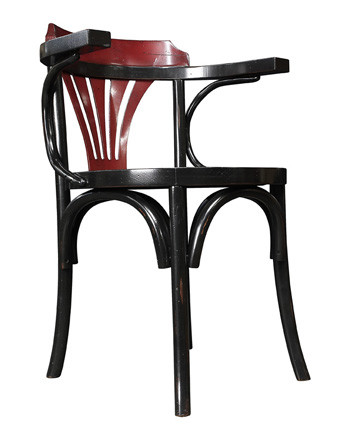Stuhl - Navy Chair, schwarz/rot