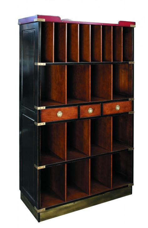 Ritz Lobby Bücherregal Bücherschrank aus Massivholz, schwarz
