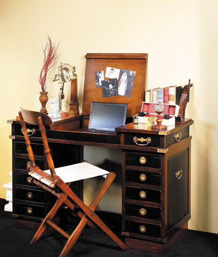 """Schreibtisch - Travel Desk """"Madras"""", Schwarz"""