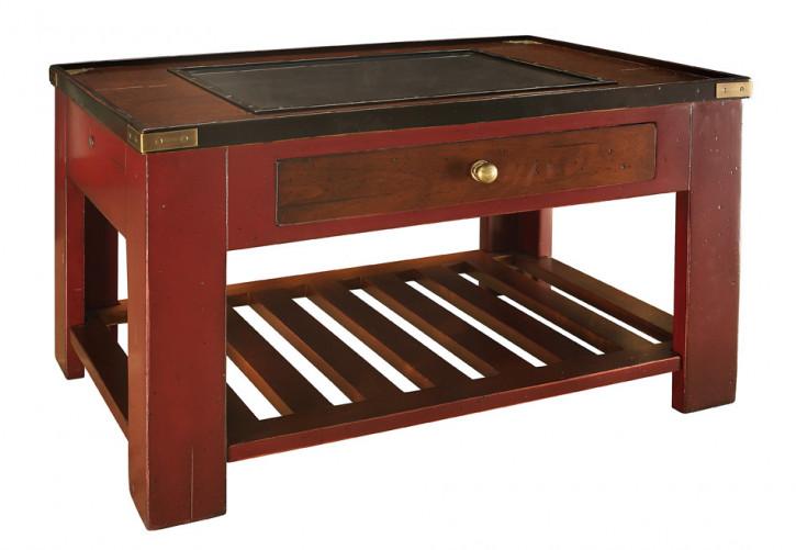 """Schreibtisch Bürotisch kleiner Tisch Beistelltisch - Travel Desk """"Madras"""", Elfenbein"""