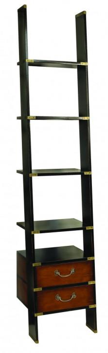 Bücherrei Leiter, Bücherschrank, Bücherregal aus Holz, Dekorationsregal in schwarz