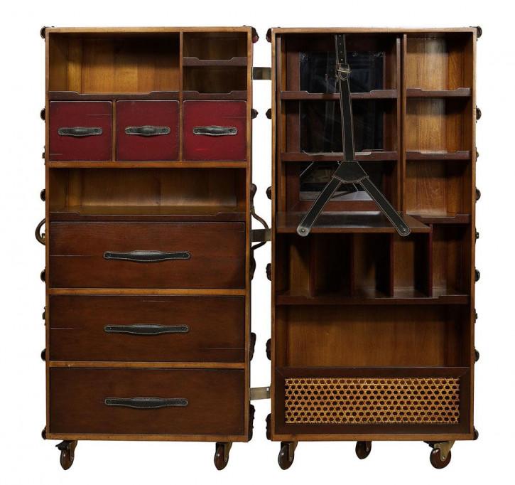 Kabinen Kleiderschrank Schrank aus Massivholz Bücherschrank Bücherregal, elfenbein