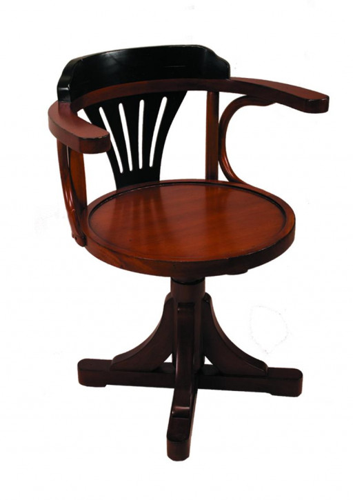 Stuhl - Pursers Chair, schwarz/honig