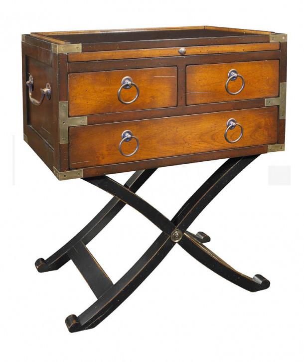 """""""Bombay Box"""" - kleiner Spieltisch in Champagner"""