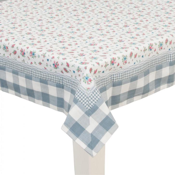 Tischdecke mit blauem Rand 100x100cm