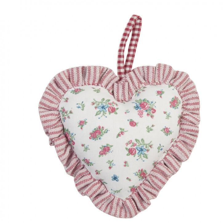 Schönes Deko Herz zum Aufhängen, rosa/weiss