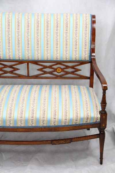 Sitzgruppe Edwardian 5-Teilig restauriert und gepolstert