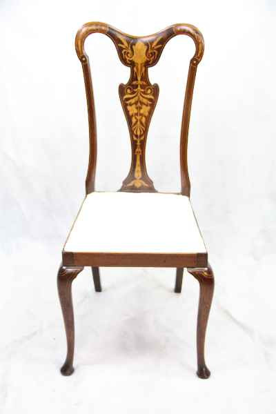 Edwardian Mahagony Single Chair Stuhl