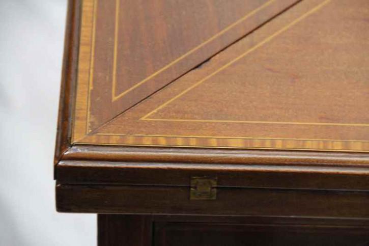 Kartentisch Envelope  Edwardian mahagoni Spieltisch