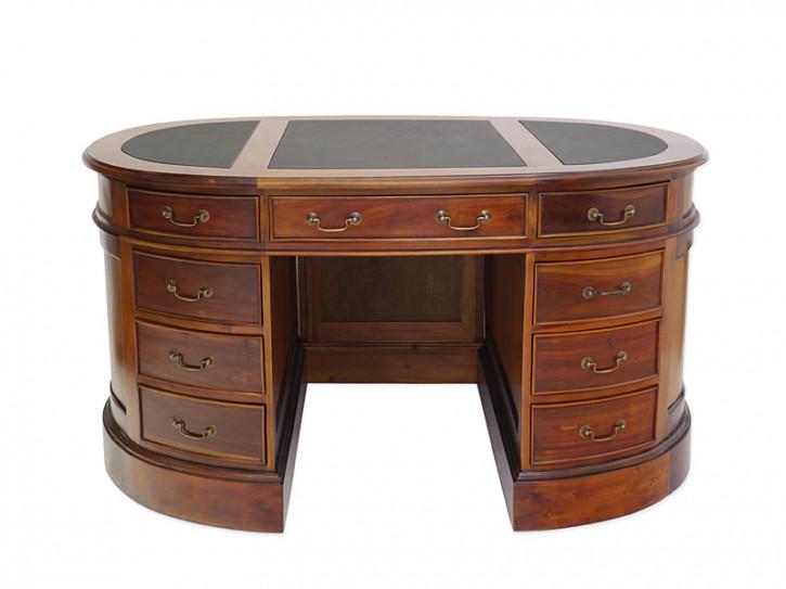 Mahagoni Schreibtisch Oval Damenschreibtisch aus Massivholz