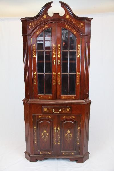 Eckvitrine  corner cupboard Palisander Massivholz