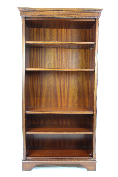 Bücherregal open bookcase Mahagoni mit Patina