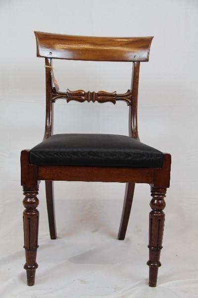 4 er Satz Mahgoni Stühle England 1860  Originale