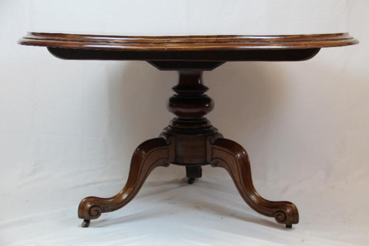 Esstisch rund Tripod table Victorian Massivholz Mahagoni