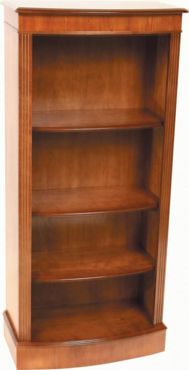 Englisches Bücherregal mit gebogener Front