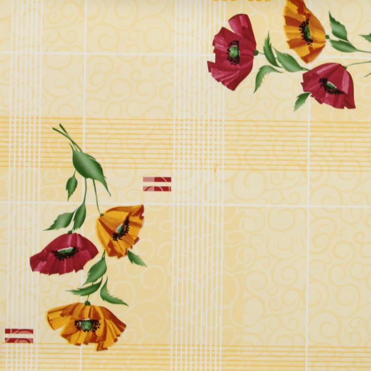 ---- Blumen ---- Wachstuch --- Tischtuch --- Tischdecke --- 140 x 275 cm