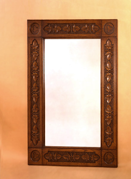 Bedroom Mirror - Heavily Carved