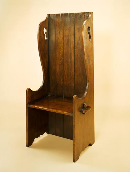 Antike Sitzbank aus Holz Joined Settle