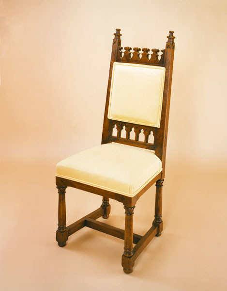 Gothic Upholstered Chair - Side