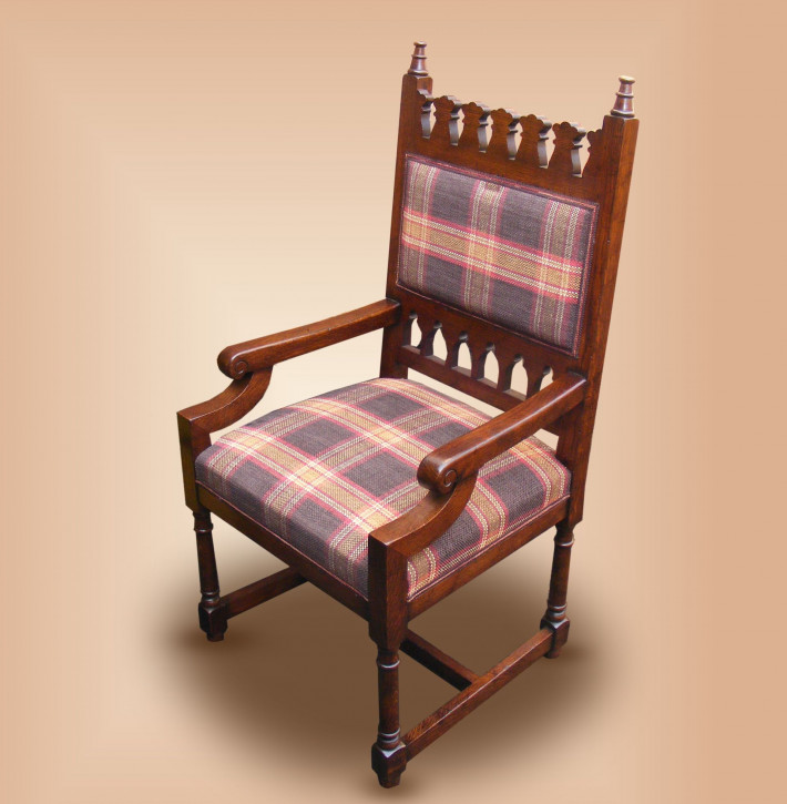Gothic Upholstered Chair - Arm