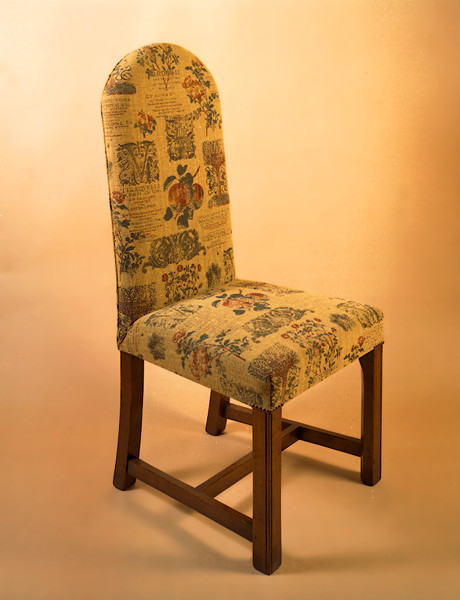 Upholstered Square Leg Chair - Arm