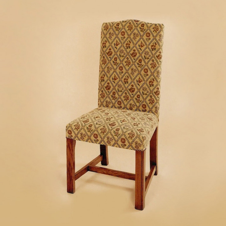 Upholstered Square Leg Chair - Side