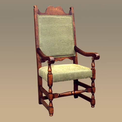 Upholstered High Back Chair - Arm