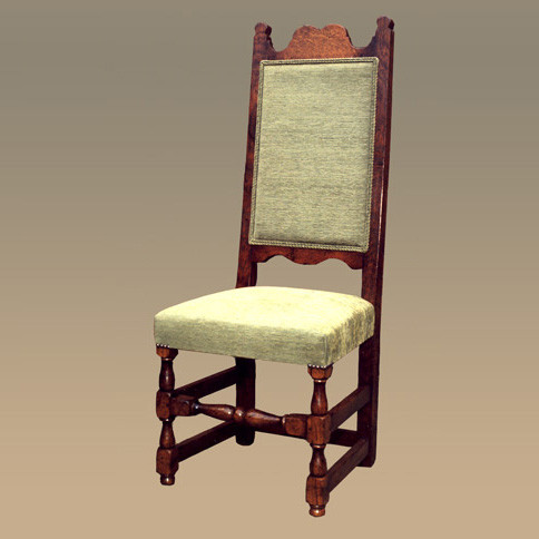 Upholstered High Back Chair - Side