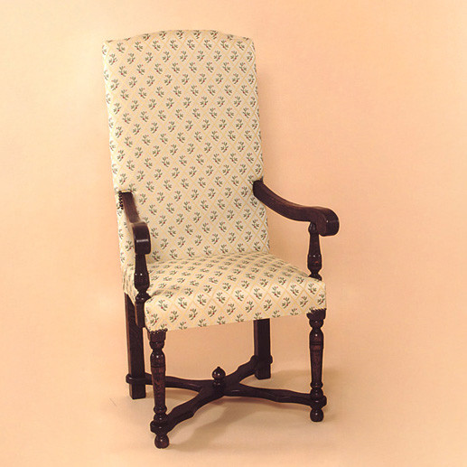 Upholstered - Flat Stretcher Chair - Arm