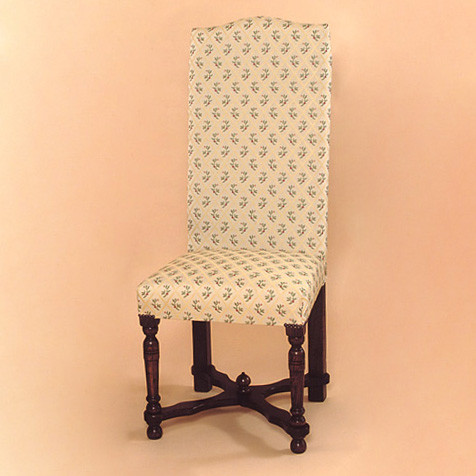 Upholstered - Flat Stretcher Chair - Side