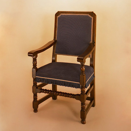 Joined Back Chair (Calico) - Arm