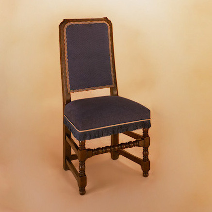 Joined Back Chair (Calico) - Side