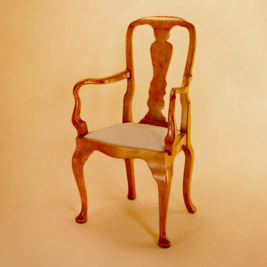 Queen Ann Style Chair - Arm