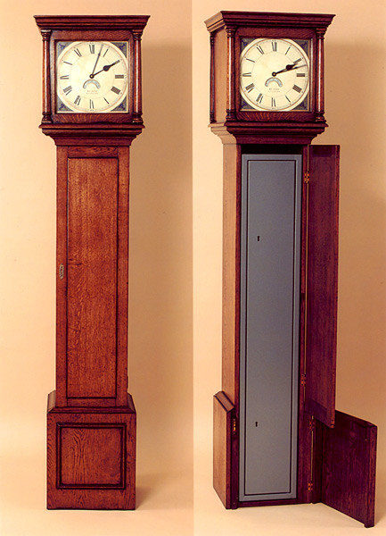 Joined Long Case Clock Gun Cabinet