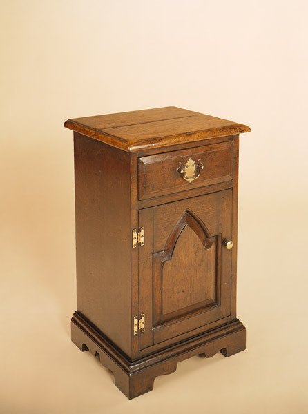 Joined Enclosed Gothic Bedside Cabinet