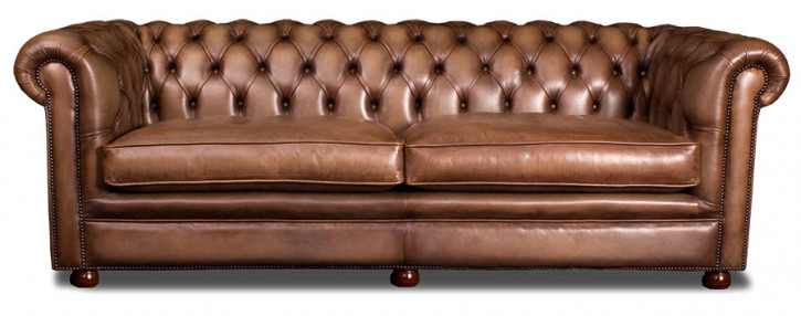 Chesterfield Sofa 2 Sitzer Holborn Handpatiniert