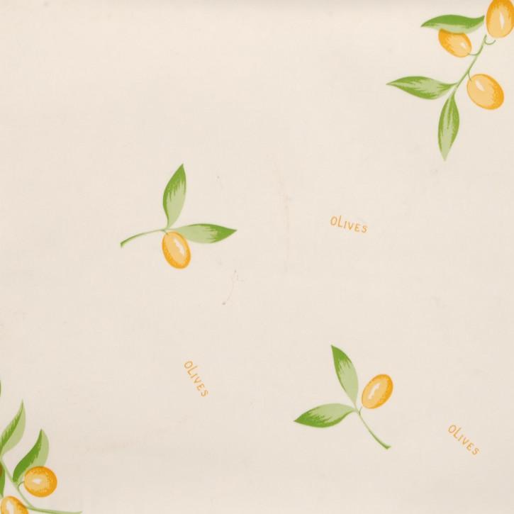 Wachstuch Tischdecke Oliven Gelb 140x275 cm