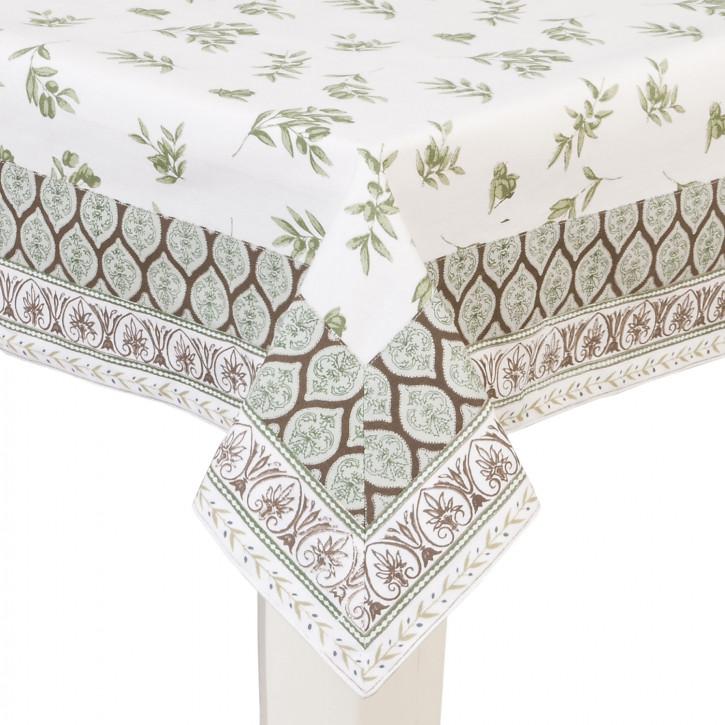 Tischdecke Blätter 150x150cm