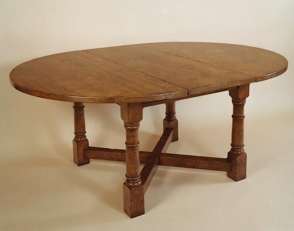 Round Table - Cross Stretcher - 1 Leaf