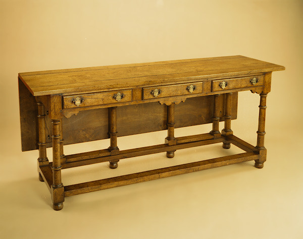 Dresser Table - Burr Elm - Single Flap
