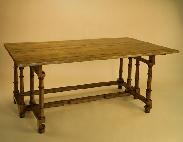 Dresser Table - Burr Elm - Single Flap