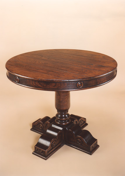Single Pedestal Table - Cross Base